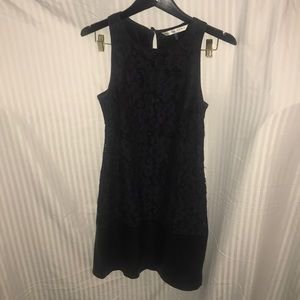 Trina Turk lace and leather dress